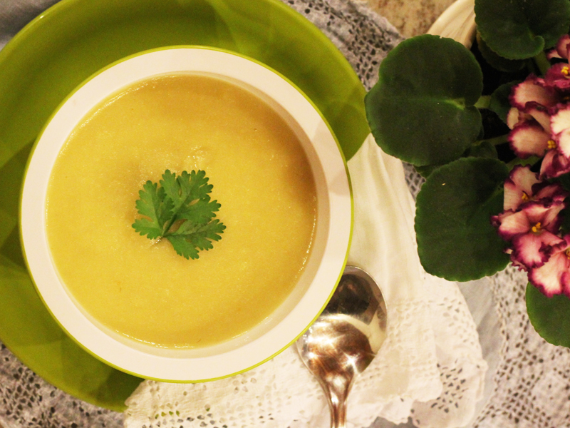 sopa de alho-poró e batata