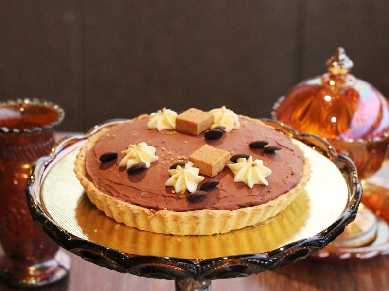 torta de paçoquinha cremosa e chocolate