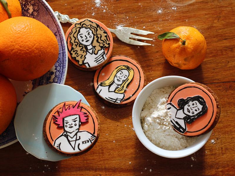 biscoitos de laranja e cardamomo