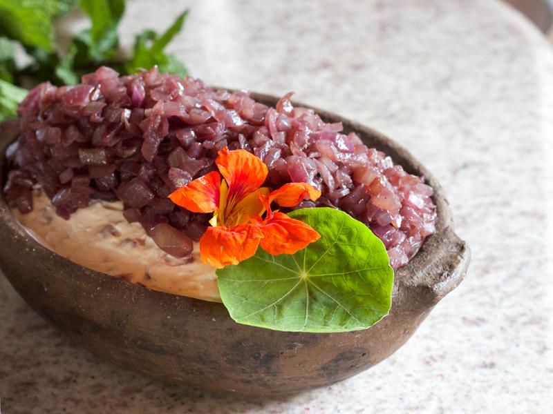 pasta de cebola caramelizada no vinho