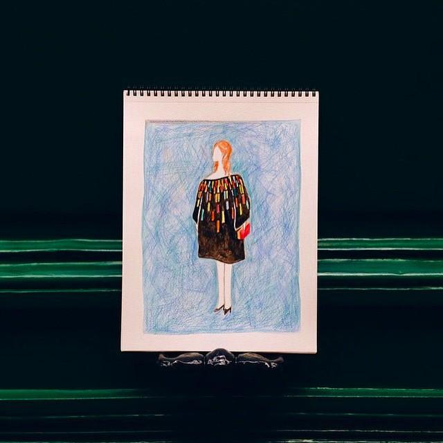 achei hoje no meio da bagunça um desenho que fiz um tempo atrás em Paris. uma moça esperando alguém na Rue Vieille du Temple. seu vestido inflava e desinflava com o vento. saudade de desenhar a vida por aí. ///////////// I found an old draw of when I was in Paris. a woman standing in front of a door in Rue Vieille du Temple. the wind was playing with her dress. I miss having time to be outside drawing life. :)
