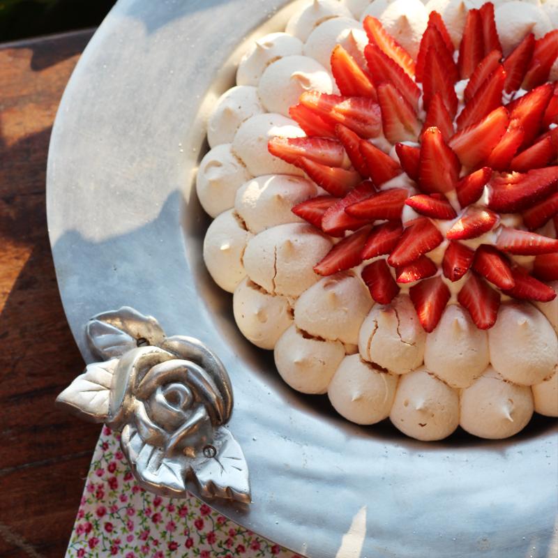 pavlova de morango