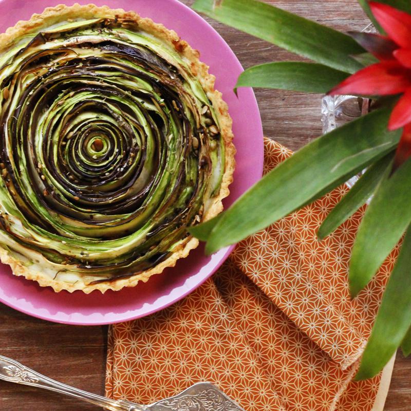 torta de legumes e requeijão cremoso