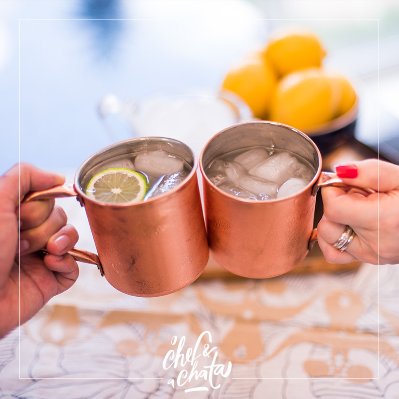 moscow mule (e ginger beer!)