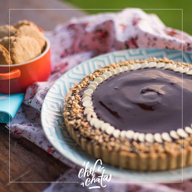 torta de paçoquinha e chocolate