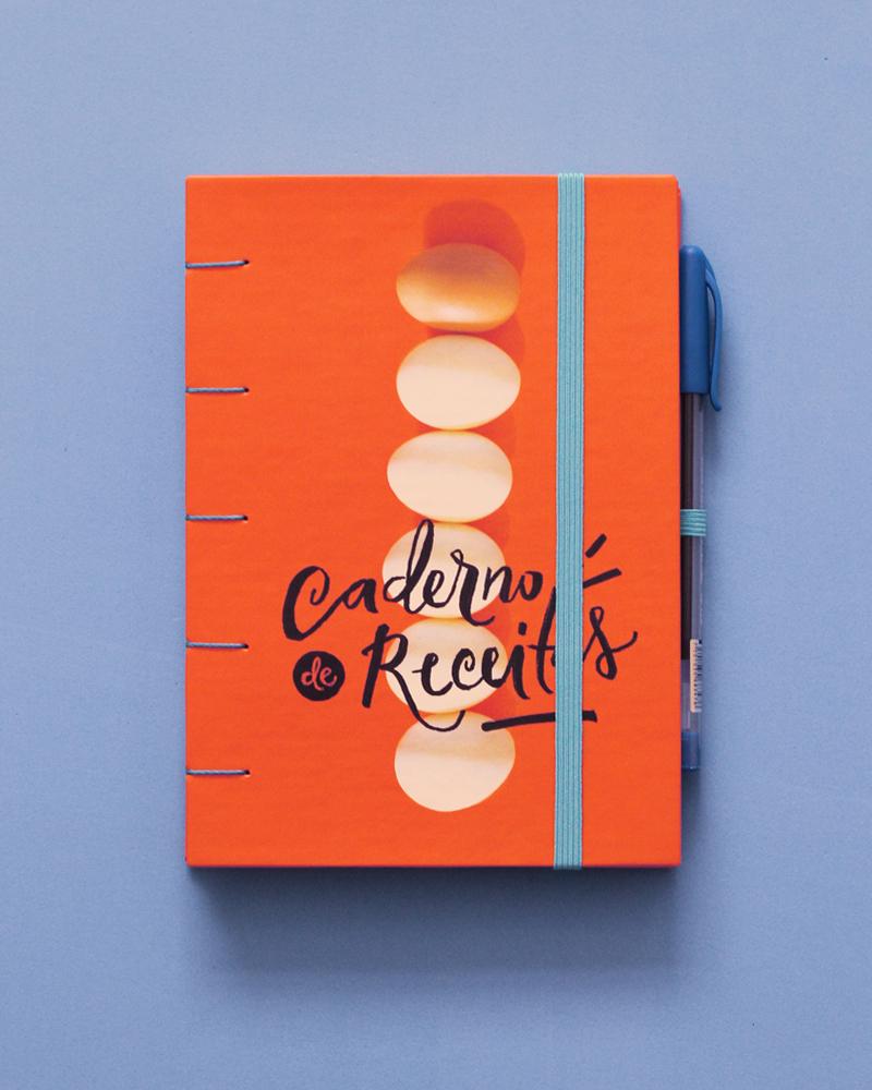 caderno de receitas + lojinha moldando afeto